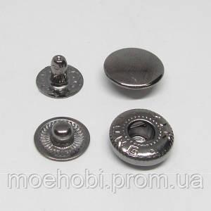 Кнопки альфа №54 (12.5мм) темный никель, 60шт 8215