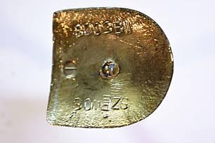 Каблук женский пластиковый 8003 Гальваника черное золото р.1-3 h-7,8-8,5 см., фото 2