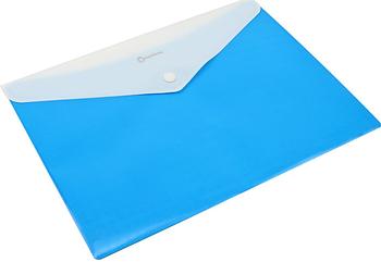 Папка конверт непрозора А4 на кнопці синя O31315-02