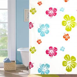 """Шторка для ванної кімнати """"Квіткова"""", 180*180см, Віланд"""