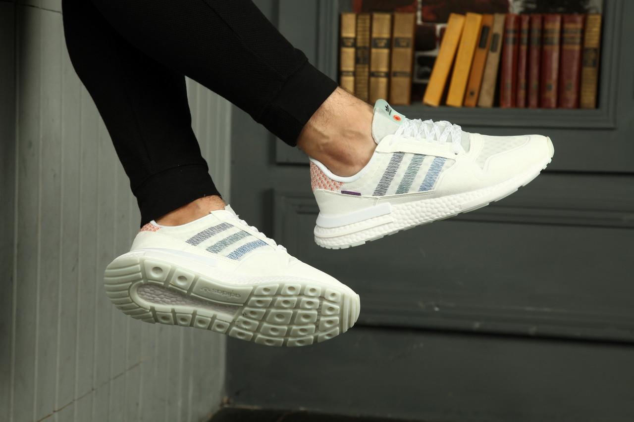 Мужские кроссовки Adidas ZX 500 RM boost из натуральной замши, 5 цветов