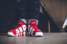 Мужские кроссовки Nike Air More Uptempo X Supreme Suptempo 902 290 600, фото 2