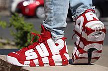 Мужские кроссовки Nike Air More Uptempo X Supreme Suptempo 902 290 600, фото 3