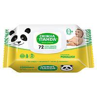 Снежная панда  влажные салфетки для детей Ромашка 72 шт.