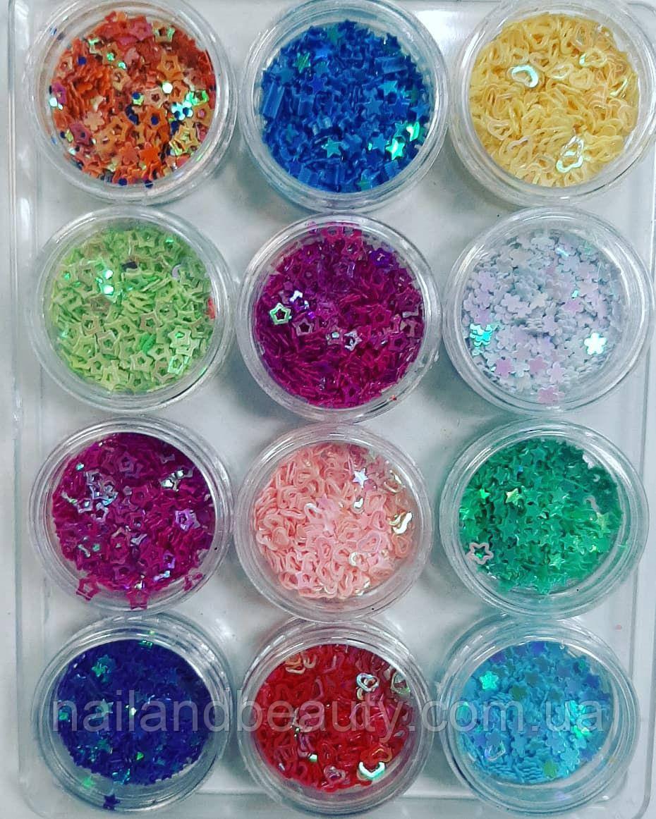 Набор для дизайна ногтей №2,12 шт в упаковке
