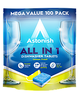 Таблетки для посудомоечных машин Astonish All in 1 Lemon fresh 42 шт