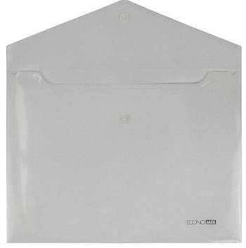 Папка конверт непрозора А4 на кнопці 180 мк біла E31301-14
