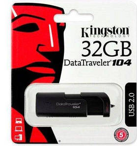 Флешка USB 2.0 Kingston DataTraveler 104 32GB Black