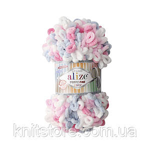 Пряжа  Alize Puffy Fine Color меланжевый