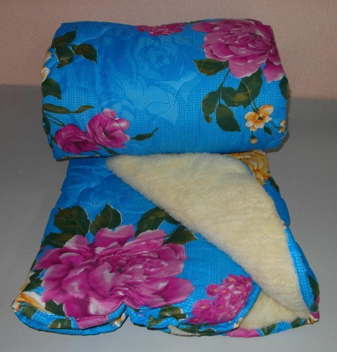 Одеяло полуторное мех а ткань полиэстер (Л-0026)