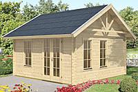 Дом деревянный из профилированного бруса 4х4. Кредитование строительства деревянных домов
