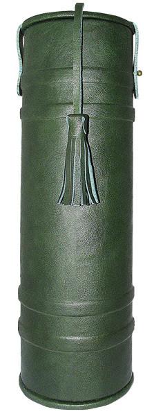 Подарочный кожаный тубус для коньяка и вина «Лидер»