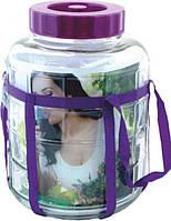 Бутыль стеклянный  с гидрозатвором 30 л, фото 1