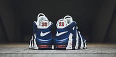 Мужские кроссовки Nike Air More Uptempo White/Blue 921948-101, Найк Аир Мор Аптемпо, фото 3