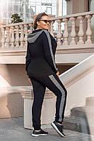 Спортивный женский костюм двунитка большие размеры РО5216, фото 1