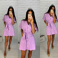 Платье-халат из натуральной ткани, фото 1