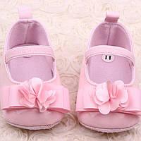 Розовые лаковые пинеточки для девочки, фото 1