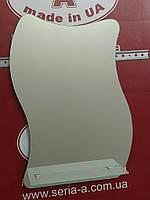 Зеркало в ванную с полочкой волнистое № 77 /Дюбель в Подарок