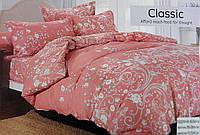 Комплект постельного белья двуспальный мягкий Classic сатин (F-869)