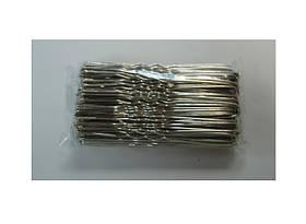 Шпильки серебро-4см (100шт/уп)