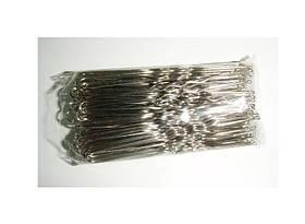 Шпильки серебро-6см (100шт/уп)