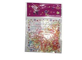 Резиночки мал.для причесок разноцветные в пакете