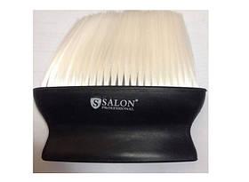 Щетка сметка Salon Prof черная с черной/белой щетиной
