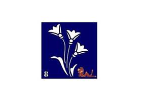 Трафареты синие, 6x6 для био тату №8