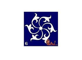Трафареты синие, 6x6 для био тату №6