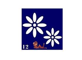 Трафареты синие, 6x6 для био тату №12
