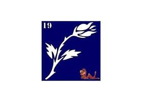 Трафареты синие, 6x6 для био тату №19