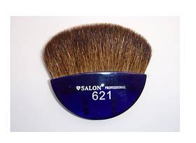 Кисть для макияжа плоская-фиолетовая