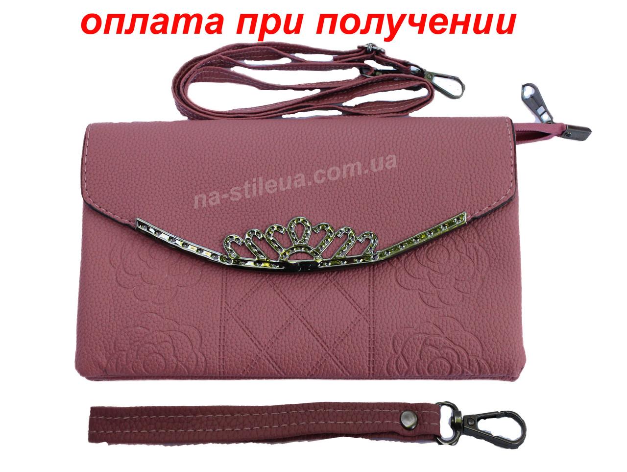 Женский кожаный клатч мини женская сумка кошелек шкіряна через плечо Candy