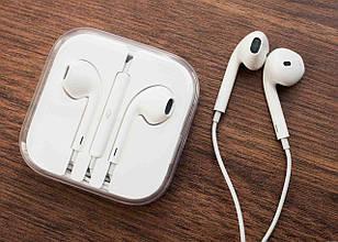 Наушники | Наушники проводные Apple EarPods с пультом дистанционного управления и микрофоном