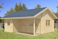 Дом деревянный из профилированного бруса 5.8х4.8