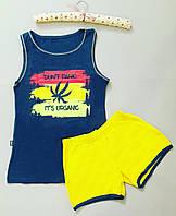 """Пижама женская хлопковая майка и шорты """"Polkan"""" c рисунком"""