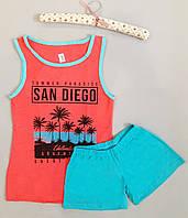 """Пижама женская хлопковая майка и шорты """"Polkan"""" San Diego"""