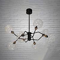 """Люстра """"молекула"""" в стиле лофт на 8 лампочек СветМира (черная) D-0021/8CL"""