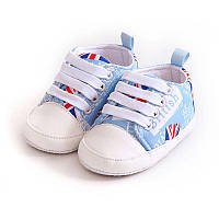 Детские голубые пинетки кеды, кроссовки для новорожденного мальчика 3, 6, 9, 12, 18 месяцев