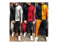 Оригинальный двухцветный  молодёжный спортивный костюм с 42 по 50 размер