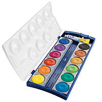Краски акварельные матовые Pelikan K12® 12 цветов + белый, фото 1