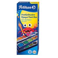 Краски акварельные матовые  Pelikan K24® 24 цвета + белый