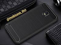 Чехол iPaky Carbon для телефону Samsung Galaxy J7 J730 2017 TPU силиконовый чохол на самсунг защита