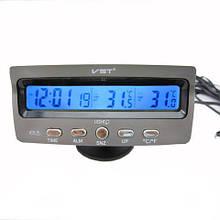 Часы для авто | Часы автомобильные | Автомобильные часы-термометр VST 7045V