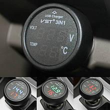 Часы для авто | Часы автомобильные | Автомобильные часы-термометр VST 706-5