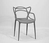 Крісло пластикове Bari, Сірий, фото 1