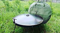 Большая сковорода из бороны с крышкой и чехлом., фото 1