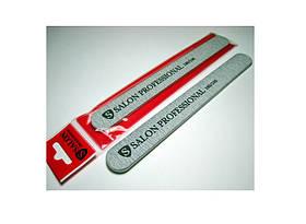 Пилка для ногтей-серая (прямая) 180/100 SALON