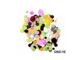 Разноцветное конфетти для ногтей Карнавал (камифубуки)