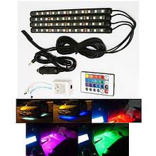 Подсветка авто   Led подсветка днища автомобиля   Универсальная автомобильная RGB подсветка LED Ambient HR-01678   Подсветка авто